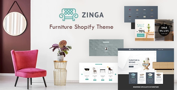 Zinga v1.0 - Shopify Furniture, Interior Store