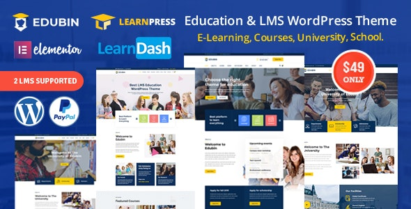 Edubin v5.0.0 - Education LMS WordPress Theme