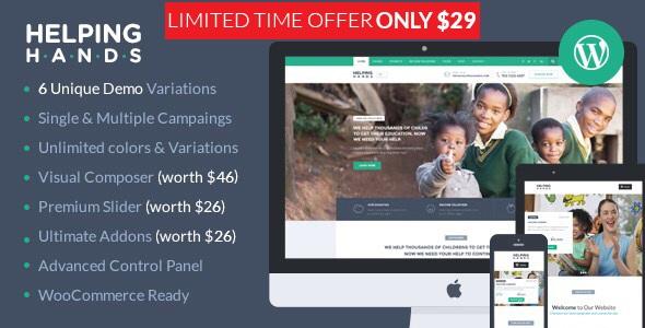 HelpingHands v2.7.4   Charity WordPress Theme