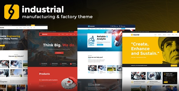 Industrial v1.3.1 - Corporate, Industry & Factory WordPress Theme