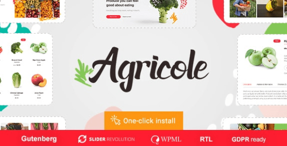 Agricole v1.0.1 - Organic Food & Agriculture Theme