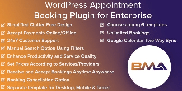 BMA v1.2.3 - WordPress Appointment Booking Plugin for Enterprise 1.2.3