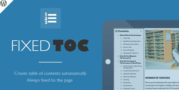 Fixed TOC v3.1.17 - Table of Contents for WordPress Plugin 3.1.17