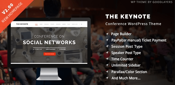 The Keynote v2.24 - Conference / Event / Meeting WordPress Theme