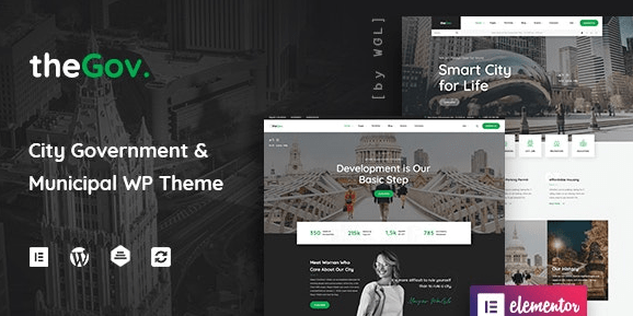 TheGov - Municipal and Government WordPress Theme Nulled