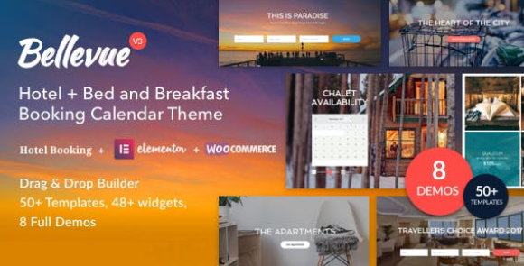 Bellevue v3.2.10 | Hotel + Bed and Breakfast Booking Calendar Theme