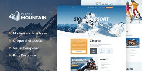 Snow Mountain v1.2.3 Ski Resort & Snowboard School WordPress Theme