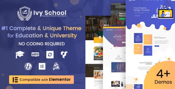 Ivy School v1.3.6 – Education, University & School WordPress Theme