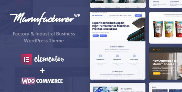 Manufacturer v1.2.2 - Factory and Industrial WordPress Theme