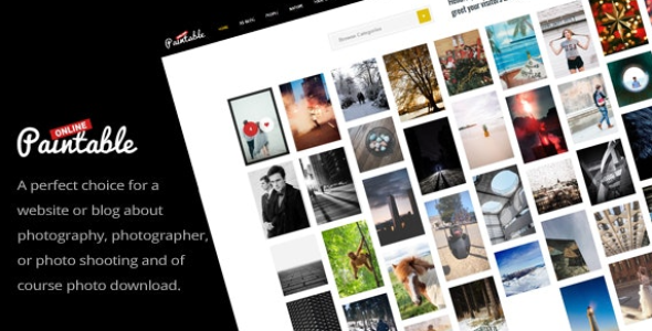 Paintable v1.4 - Photography and Blog / Photos Download Theme