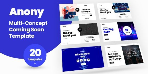 Anony v1.0 – Coming Soon HTML5 Template