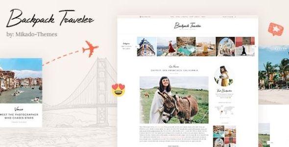 Backpack Traveler v2.0.2 - Modern Travel Blog WordPress Theme