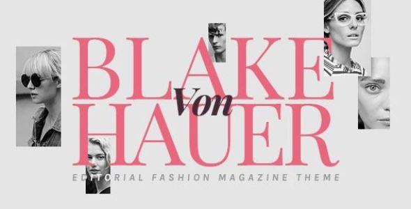 Blake von Hauer v4.1 - Editorial Fashion Magazine Theme