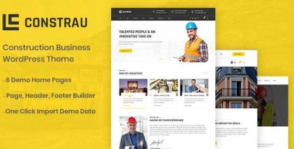 Constrau v1.1.6 - Construction Business WordPress Theme
