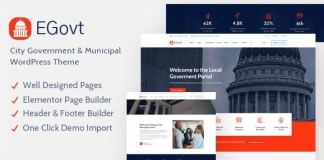 EGovt v1.0.4 - City Government WordPress Theme