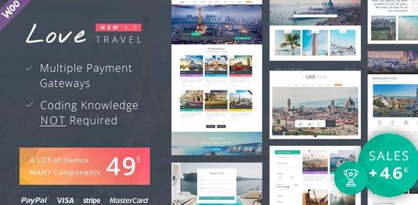 Love Travel v3.9 - Creative Travel Agency WordPress