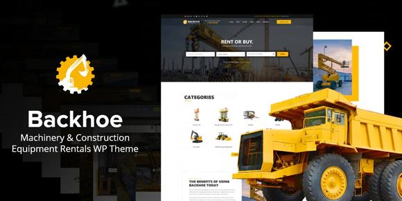 Backhoe - Heavy Equipment Rentals WordPress Theme