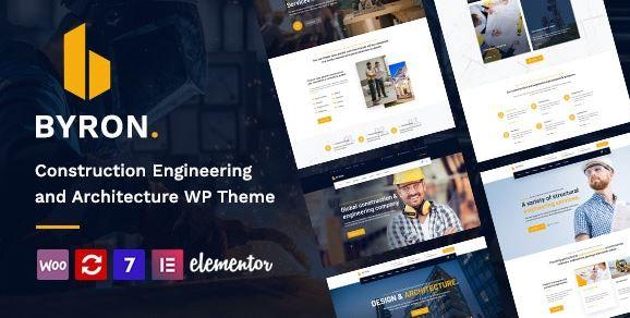 Byron   Construction and Engineering WordPress Theme
