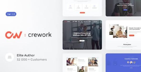Crework v1.1.2 - Coworking and Creative Space Theme