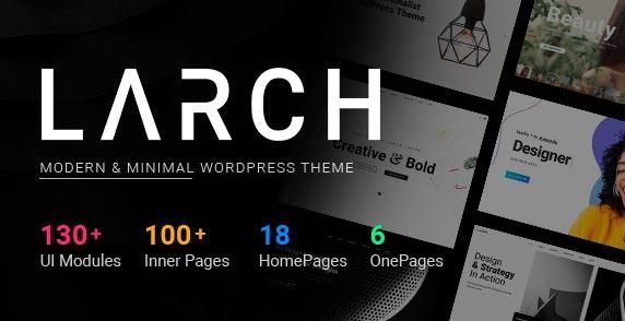 Larch - responsive minimalist versatile WordPress theme