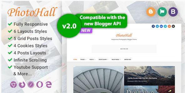 PhotoHall - Responsive Photography Blogger Theme