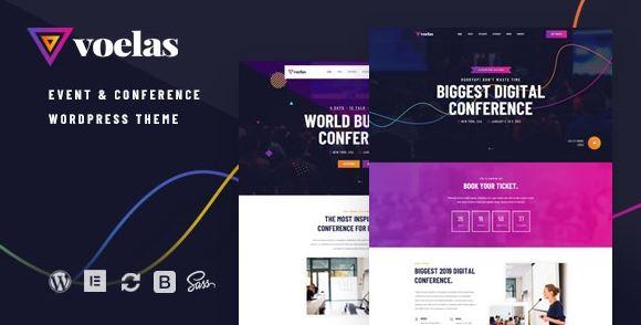 Voelas v1.1.1 – Event & Conference WordPress Theme