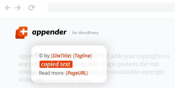 Appender - Copycat Content Protection for WordPress