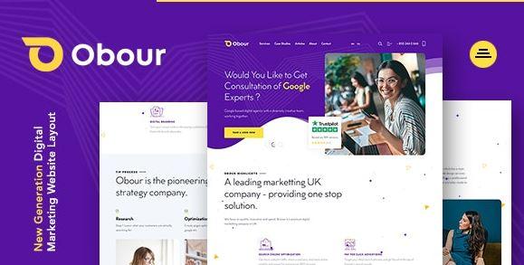 Obour   Digital Marketing Agency WordPress Theme