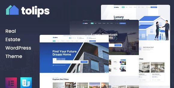 Tolips v1.2.1 – Real Estate WordPress Theme