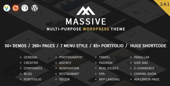 Massive v2.4.1 – Responsive Multi-Purpose WordPress Theme
