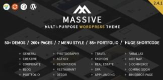 Massive - Responsive Multi-Purpose WordPress Theme