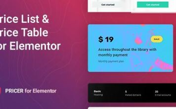 Pricer - Price List for Elementor