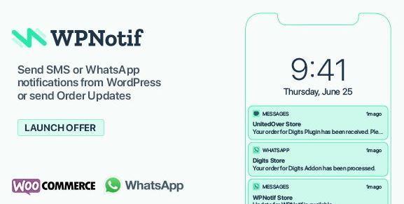 WPNotif: WordPress SMS & WhatsApp Notifications
