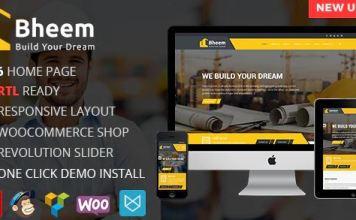 Bheem : Construction Industry Agency WordPress Theme with RTL Ready