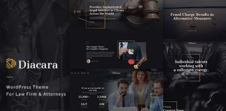 Diacara - WordPress Theme For Law Firm & Attorneys