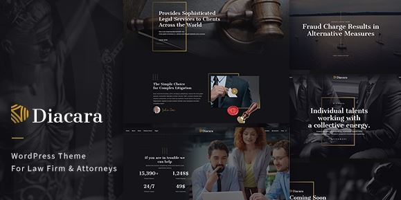Diacara - WordPress Theme For Law Firm & Attorneys