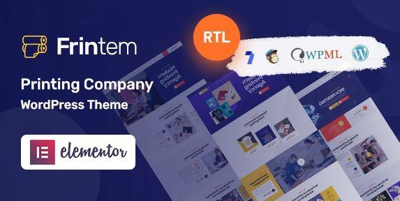 Frintem - Printing Company WordPress Theme