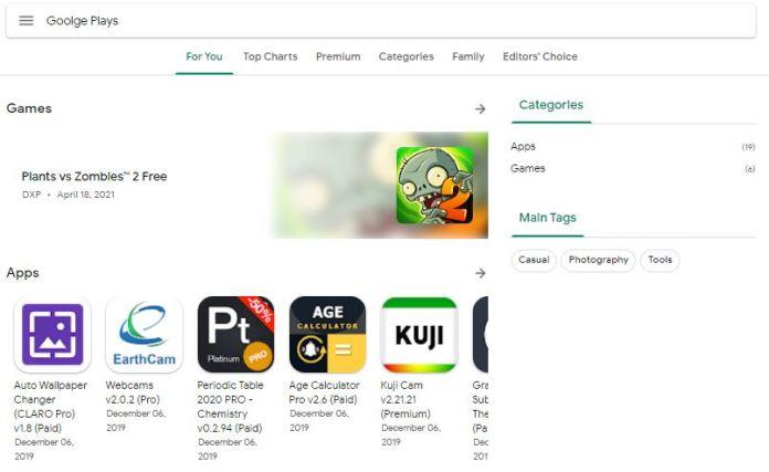 Google Play Store Premium Blogger Template