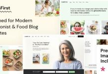 HealthFirst - Nutrition and Recipes Theme