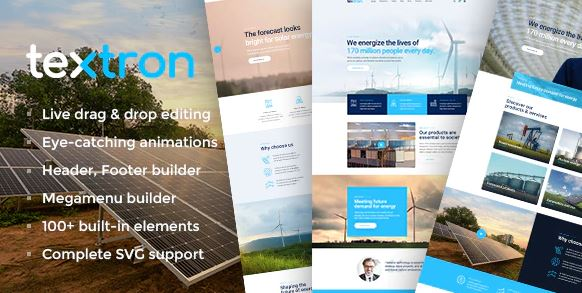 Textron – Industrial WordPress Theme + WooCommerce Shop