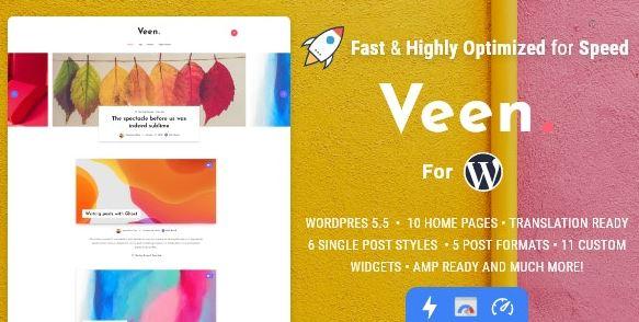 Veen v2.1.4 – Minimal & Lightweight Blog for WordPress