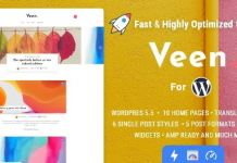 Veen - Minimal & Lightweight Blog for WordPress