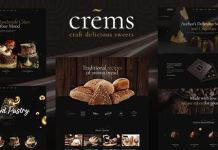 Crems - Bakery, Chocolate Sweets & Pastry WordPress Theme