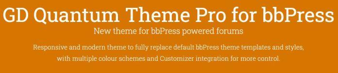 GD Quantum Theme Pro for BBPress