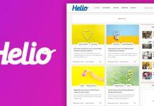 Helio Grid Style Modern Blogger Template