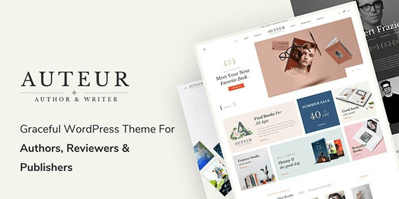 Autur - WordPress theme for writers and publishers