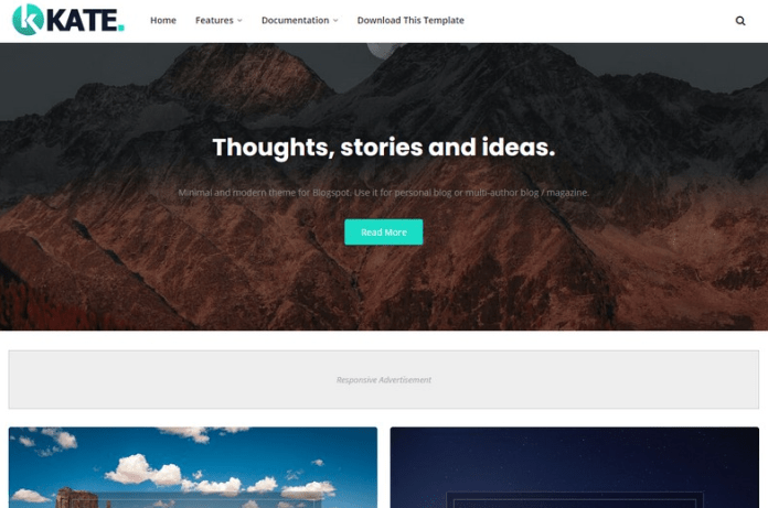 Kate Blogger Template