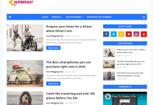 SuperFast Blogger Template