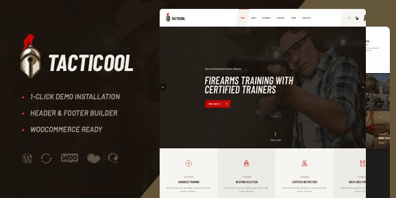 Tacticool - Shooting Range & Gun Store WordPress Theme