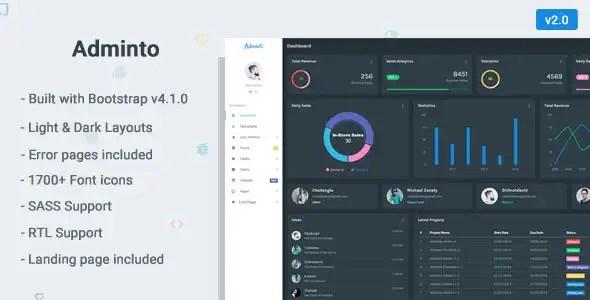 Adminto - Admin Dashboard Template
